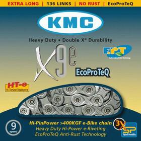 KMC X-9e E-Bike Kjede 9-delt sølv